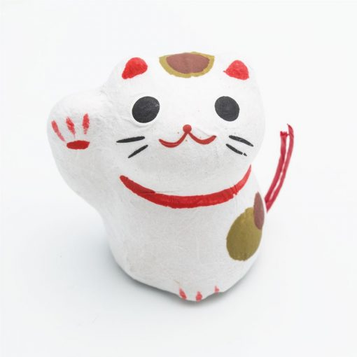Flowering fortune Maneki Neko bianco