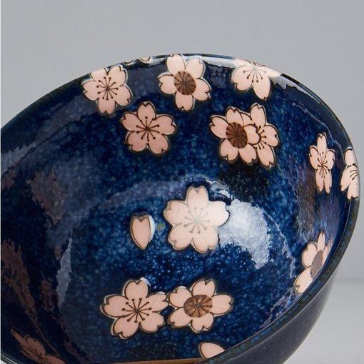 Set di 2 ciotole blu con sakura