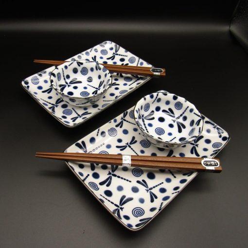 Set da sushi per 2 con libellule