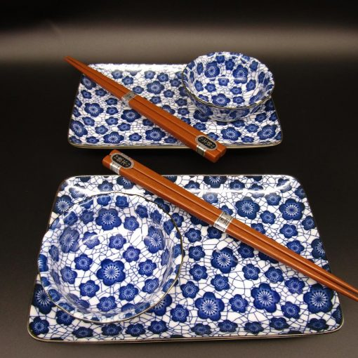 Set da sushi per 2 con fiori di pruno